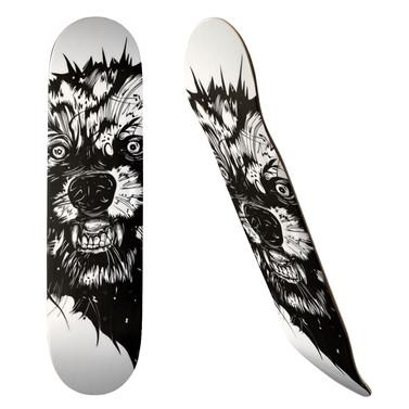 WOLF Skateboard, 19.7cm Deck