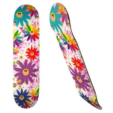 SMYLE FLOWERS Skateboard, 19.7cm Deck