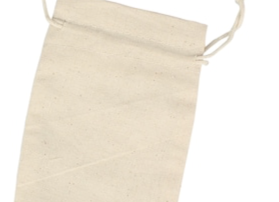 Natural Muslin Mask Bag with Zip Bag Inserts