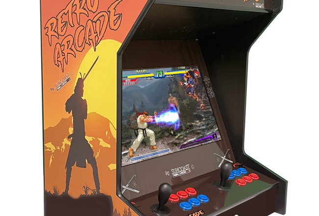 Tabletop Side-By-Side Arcade Machine | Lit Marquee | 750 Games