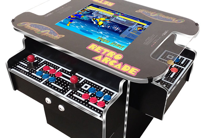 3 Sided Cocktail Arcade Machine | 1162 Games
