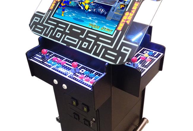 Premium 3 Sided Pub Height Cocktail Arcade Machine   1162 Games