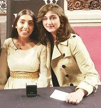 Queenie Shaikh with Rupi Kaur.