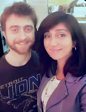Queenie Shaikh with Daniel Radcliffe.