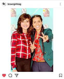 Queenie Shaikh with Lilly Singh AKA iiSuperwomanii.
