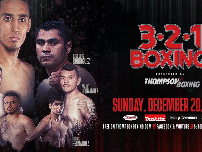 3-2-1 Boxing to Air Live on Fight Hub TV