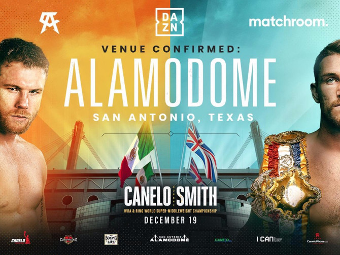 Alamodome to Host Canelo Smith