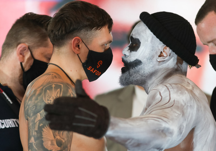Usyk Chisora Weigh In