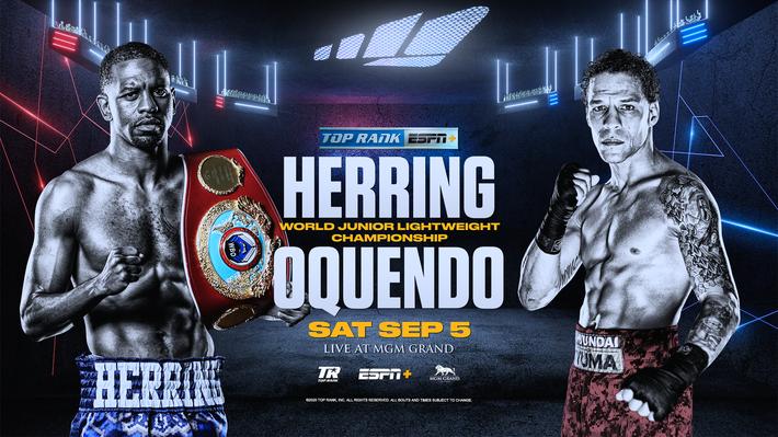 Jamel Herring vs. Jonathan Oquendo September 5 on ESPN+