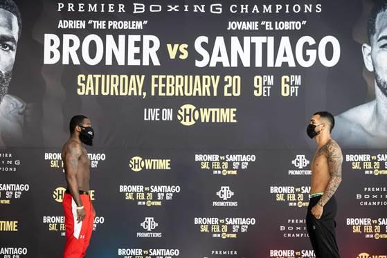 Broner Santiago Weigh In