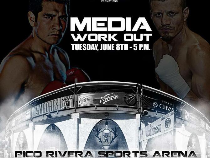Marco Antonio Barrera and Jesus Soto-Karass Media Workout Tuesday
