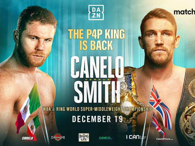 Canelo vs. Callum Smith December 18 Live on DAZN