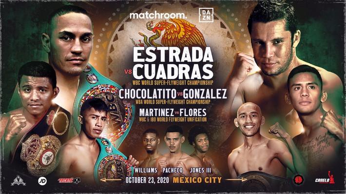 Juan Estrada vs. Carlos Cuadras Headline DAZN Card Featuring Chocolatito & Julio Cesar Martinez
