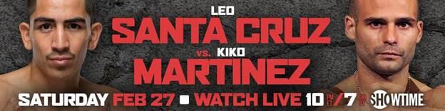 Santa Cruz vs. Martinez Official Info
