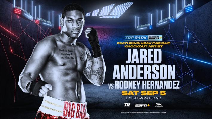 Jared Anderson Returns September 5