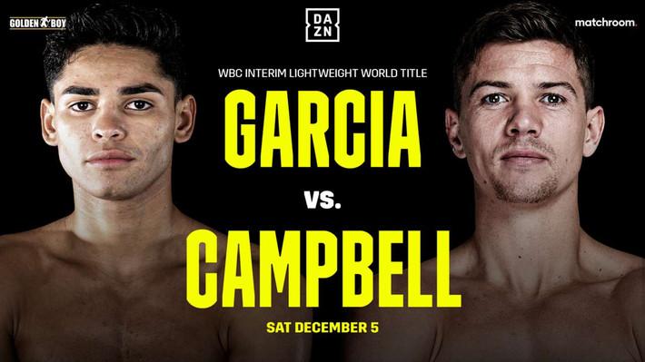 Ryan Garcia vs. Luke Campbell Lands at Fantasy Springs