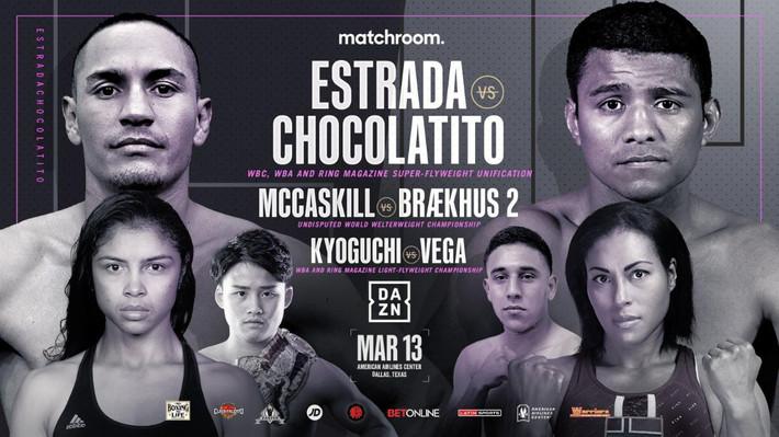 McCaskill Braekhus Rematch & Kyouguchi vs. Vega Added to Estrada Gonzalez Card