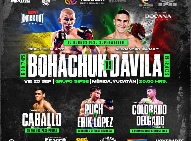 Sergey Bohachuk Headlines vs. Alejandro Davila on ESPN Knockout