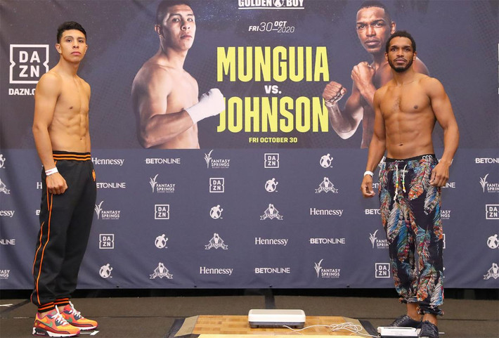 Munguia and Johnson Weigh In Results