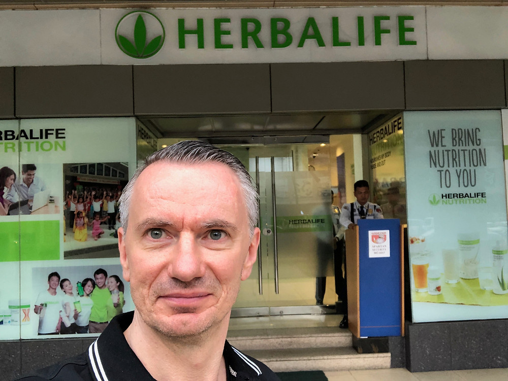 Raf at Herbalife Makati in the Philippines.