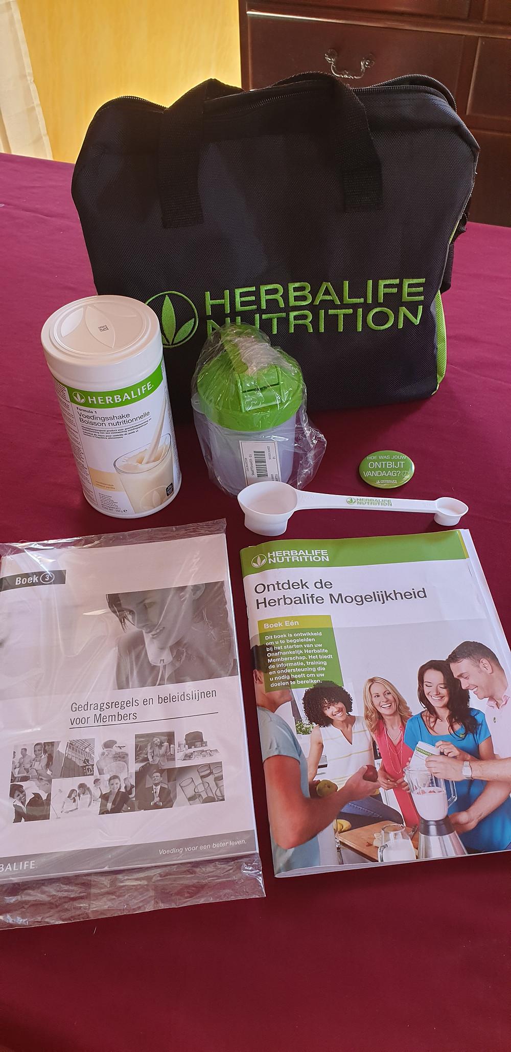 Herbalife starterspakket in België kost iets meer dan 50 €.