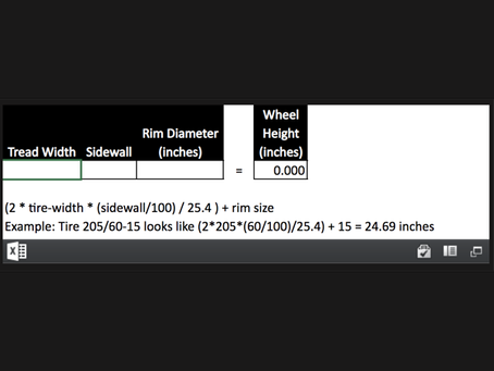 Tire Size Calculator (Formula)