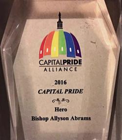 2016 Capital Pride Hero Award
