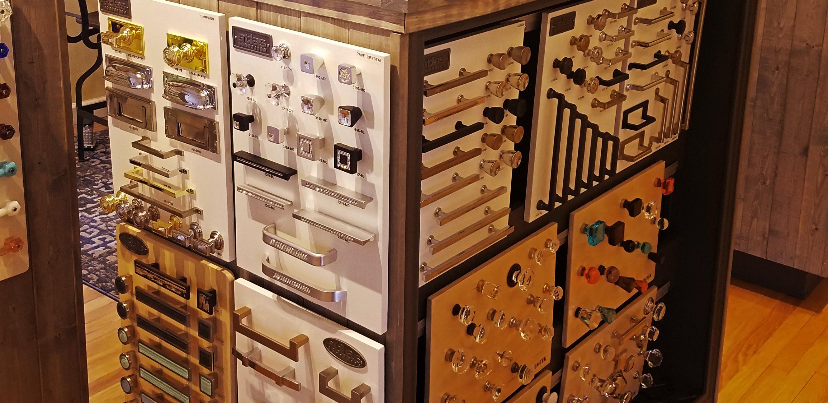 Texas Finial Cabinet display