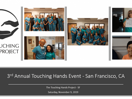 3rd Annual Touching Hands Event - 11/9/19 - San Francisco, CA