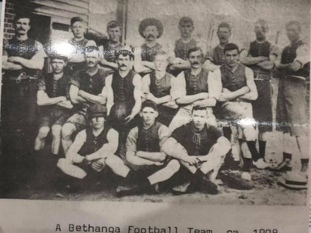A history of the Bethanga Football Club from its origin back in the late 1800's - By Danny Steel