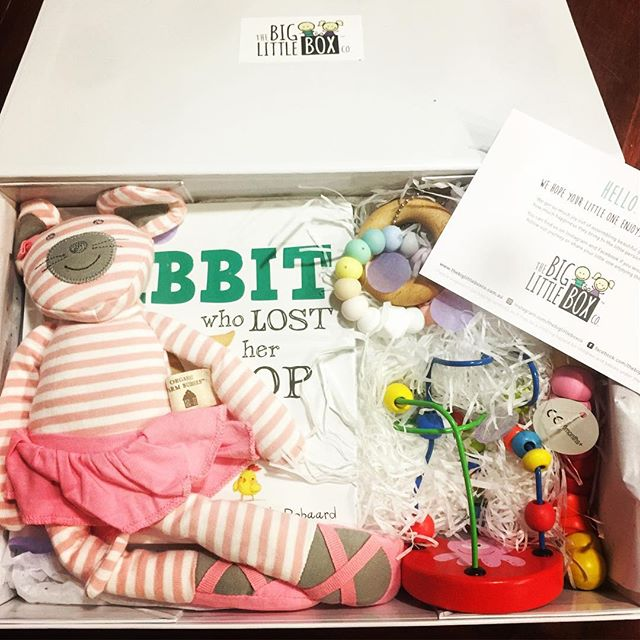 My #thebiglittleboxco order arrived today. Isn't it just beautiful_ My new baby niece will love it