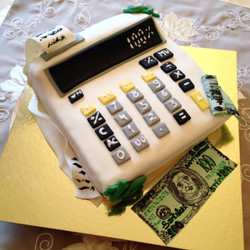 Accounting 3D Themed Caked