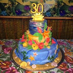 Hawaii Themed Birthday Cakes