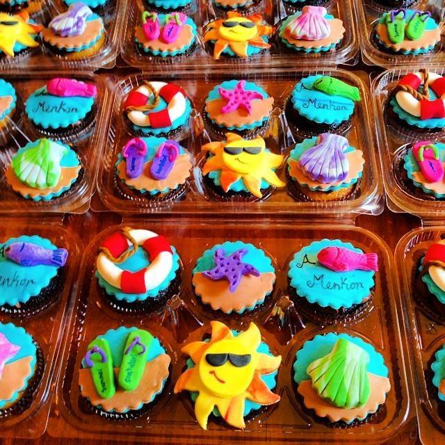 Summer Birthday Cupcakes