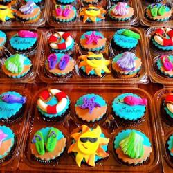 Summer Birthday Cupcakes