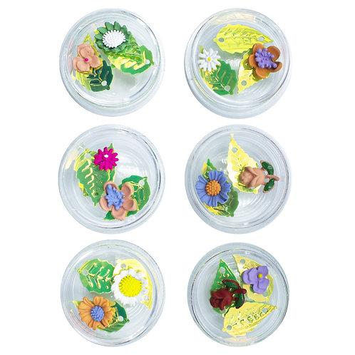 Kit Com 6 Potes De Enfeites P/ Encapsular Unhas, Helen Color
