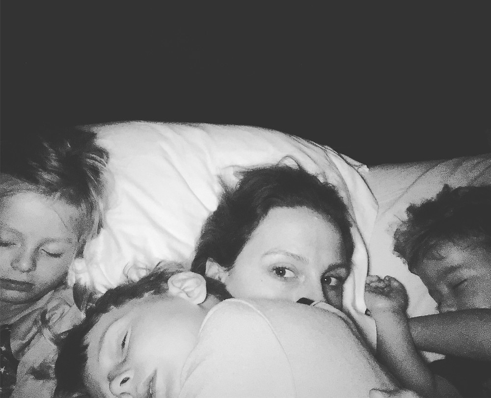 6:00am wake up call. All the kiddos return to the mothership for their morning snuggle.