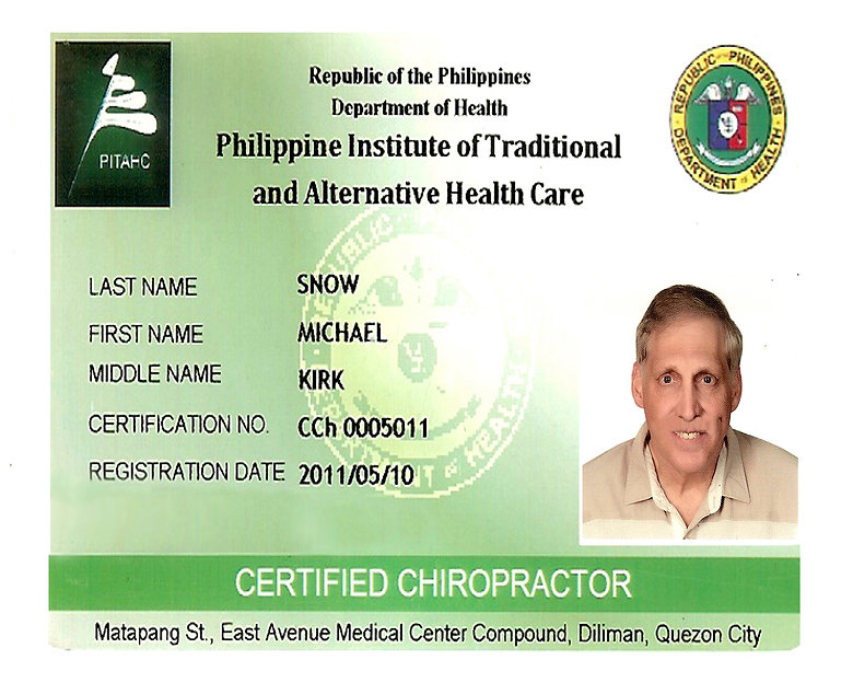 Philippine Institute Of Traditional And Alternative Health Care certificate