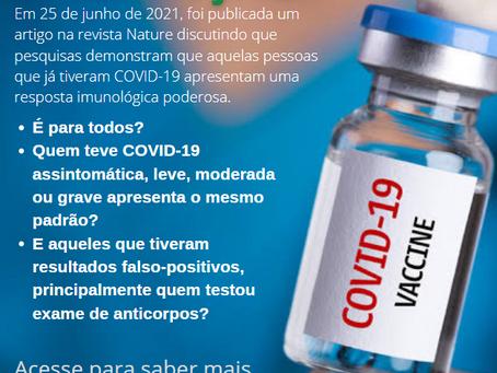 VACINA CONTRA COVID-19: Uma dose de vacina é suficiente para quem já teve COVID? O que a ciência diz