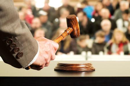 auction  bid sale judgment mallet with j