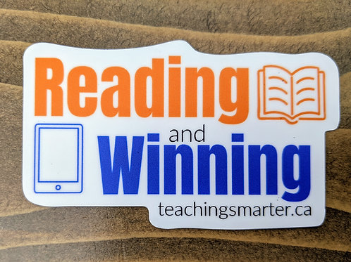 Reading and Winning Sticker