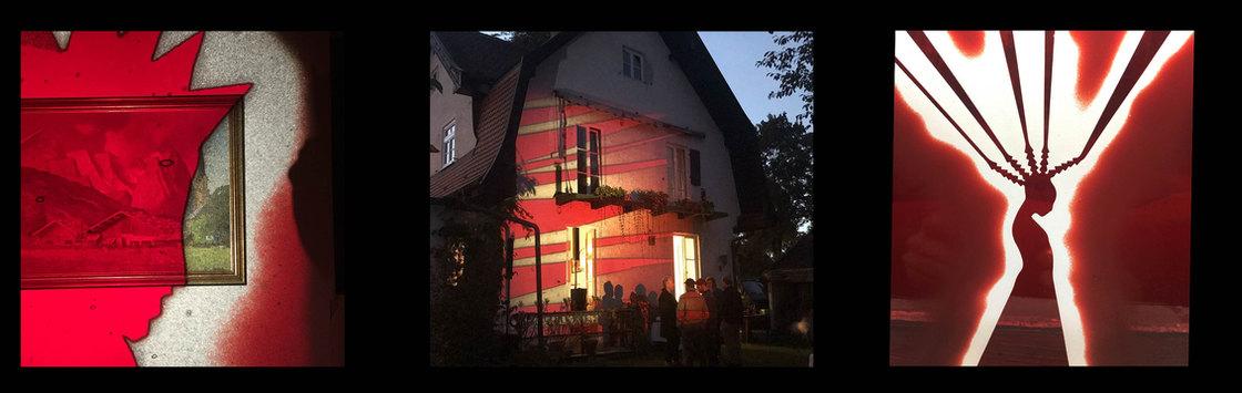 mundgeblasenens Lambertsglas Diaprojektion