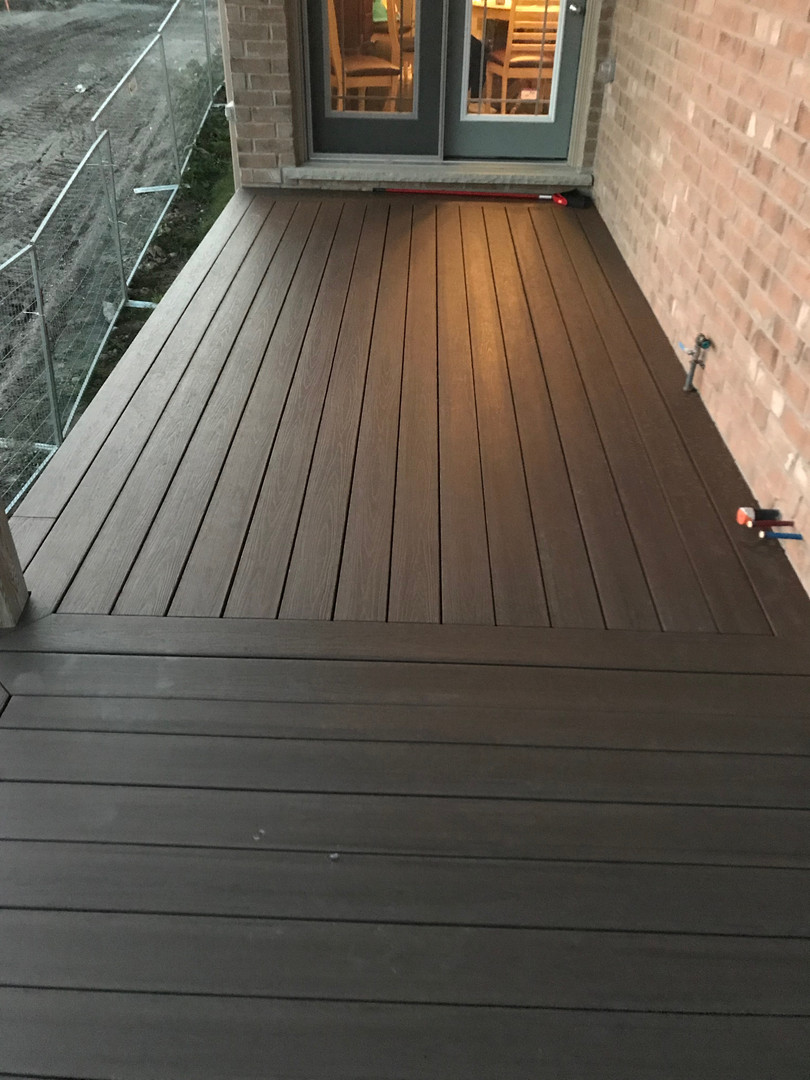 Composite deck at sunset
