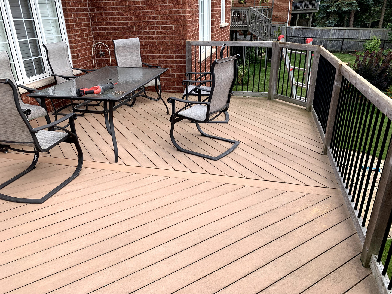 Finished custom deck