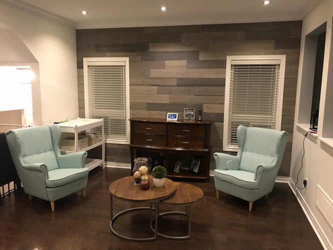 Basement living room area