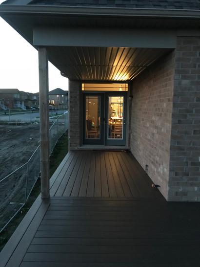 Composite deck evening view