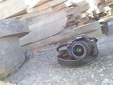 blog photo of camera sat on flagstone