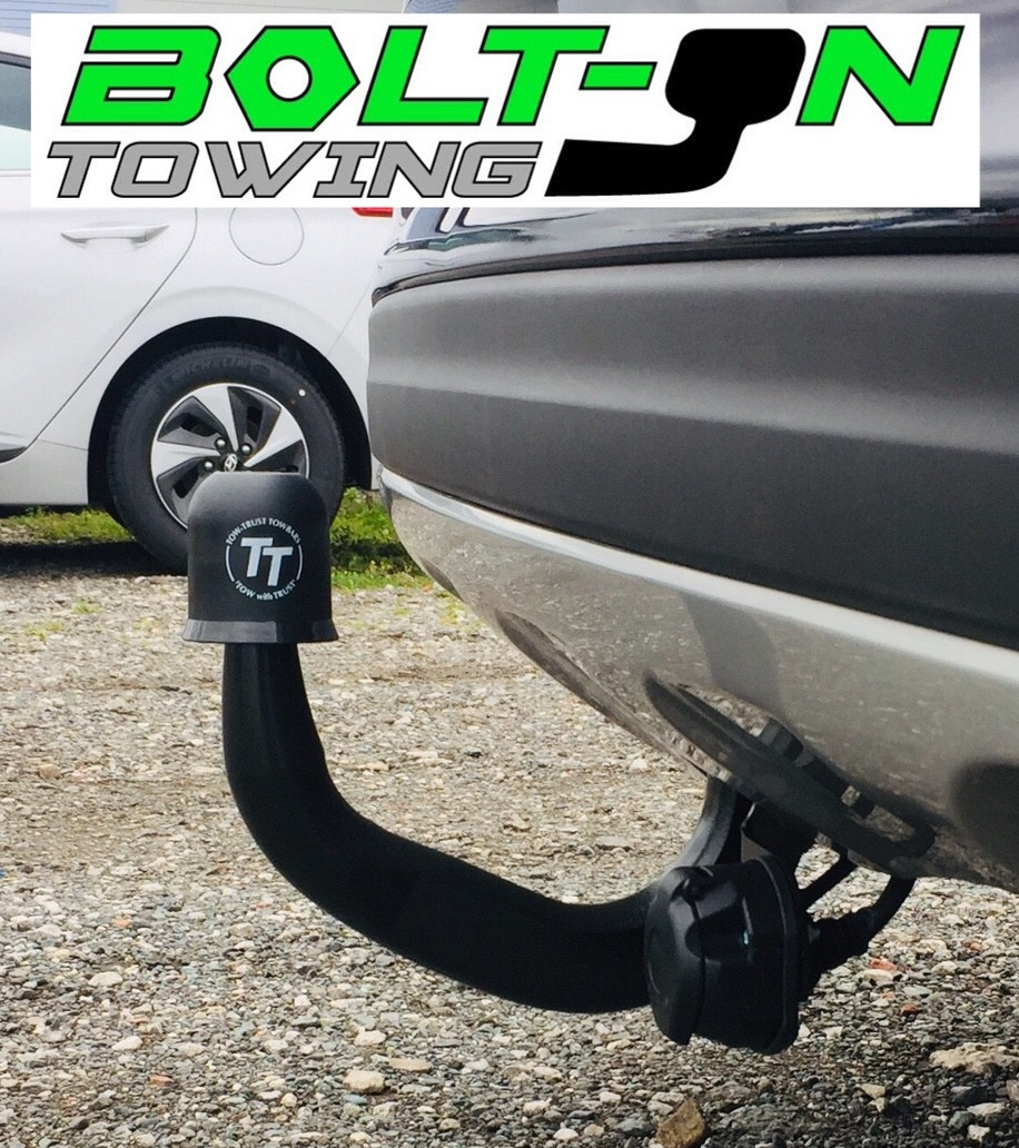 Fixed swan neck tow bar