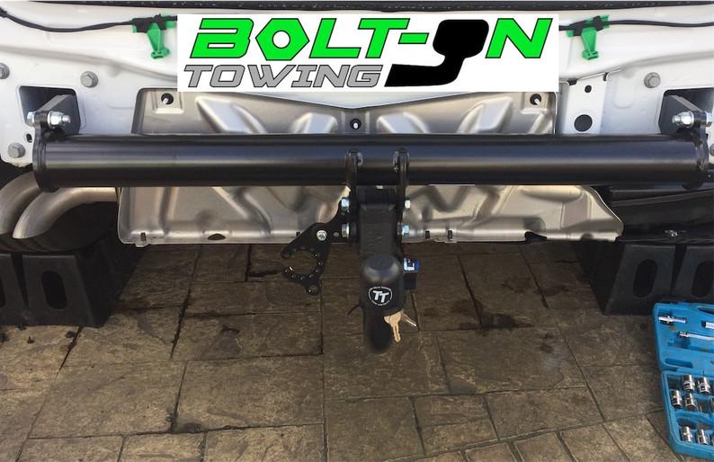 Detachable tow bar cross frame