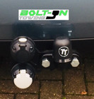 Fixed flange tow bar and twin electrics
